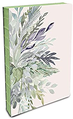 Coptic-Bound Journal Watercolor Leaves