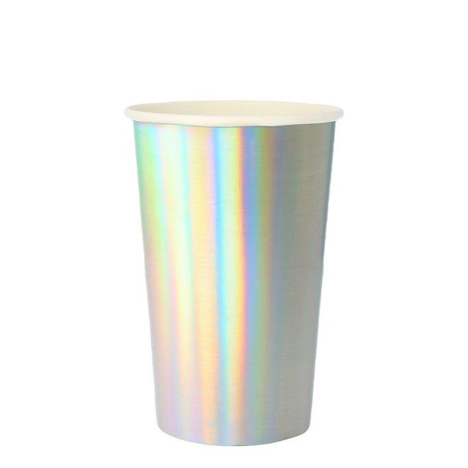 Large Silver Holographic Highball Cup