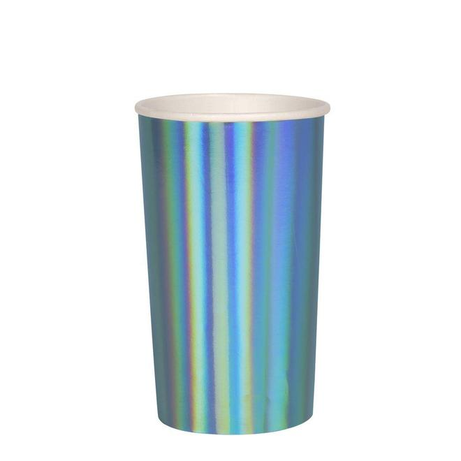 Large Blue Holographic Highball Cup