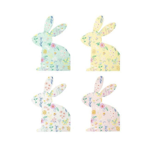 Patterned Bunny Shaped Napkins - Front & Company: Gift Store