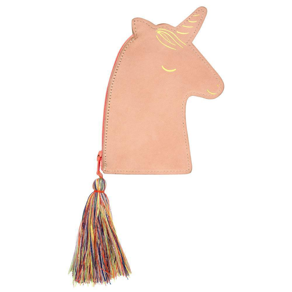 Leather Unicorn Pouch