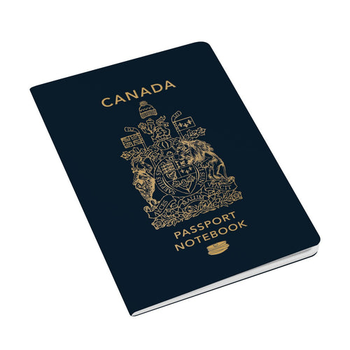 Canada Passport Notebook - Front & Company: Gift Store