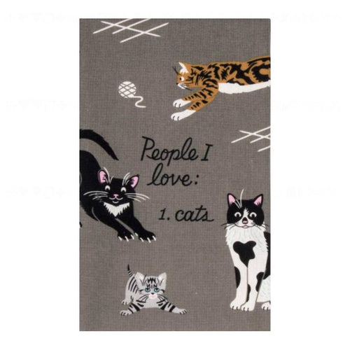 People I Love: Cats Dish Towel - Front & Company: Gift Store