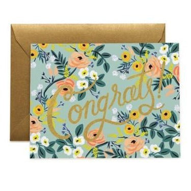 Blue Meadow Congratulations Greeting Card