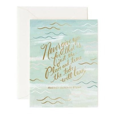 Tide Will Turn Greeting Card - Front & Company: Gift Store