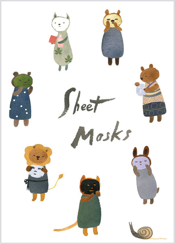 Sheet Masks Birthday Card - Front & Company: Gift Store