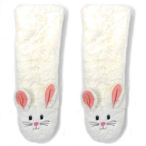 Women's Bunny Plush Slipper Sock