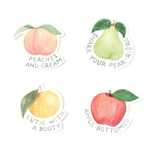 Juicy Fruits Sticker Set - Front & Company: Gift Store