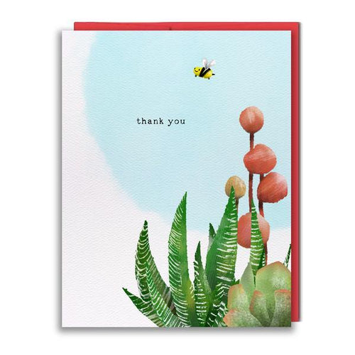 Thank You Bee Card - Front & Company: Gift Store