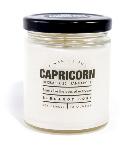 Astrology Capricorn Candle - Front & Company: Gift Store