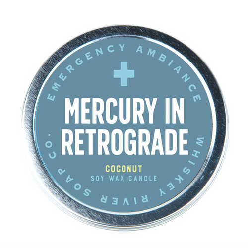 Mercury In Retrograde Emergency Ambience Candle - Front & Company: Gift Store