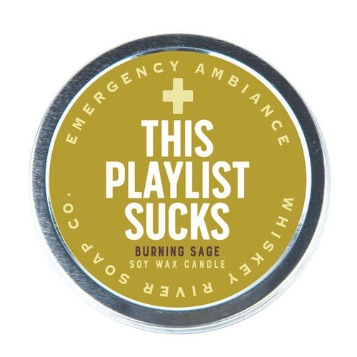 This Playlist Sucks Emergency Ambience Candle - Front & Company: Gift Store