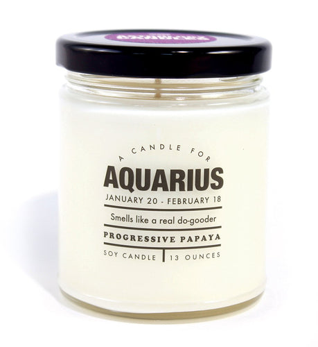 Astrology Aquarius Candle - Front & Company: Gift Store