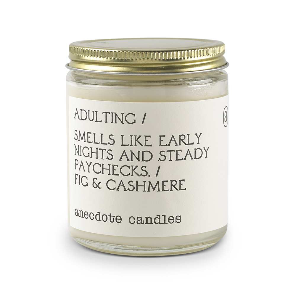Adulting (Fig & Cashmere) Glass Jar Candle