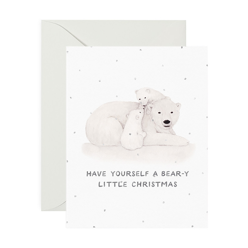 Bear-y Little Christmas Greeting Card - Front & Company: Gift Store