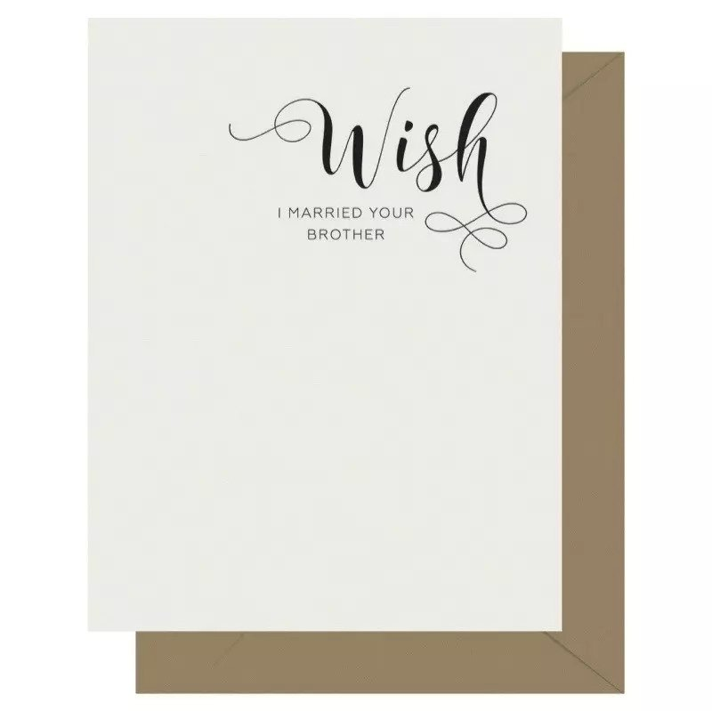 Wish Crass Calligraphy Greeting Card
