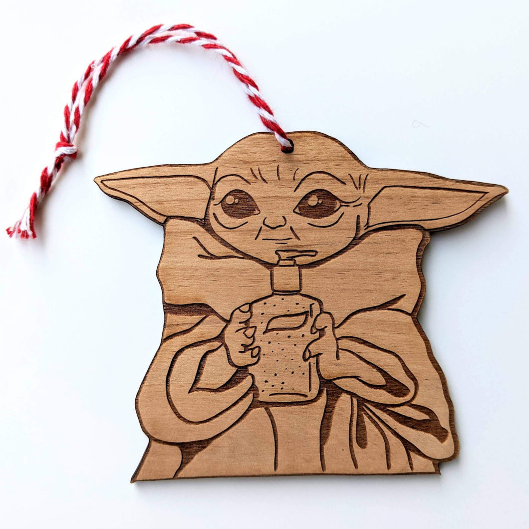 Baby Yoda Sanitize You Must Ornament