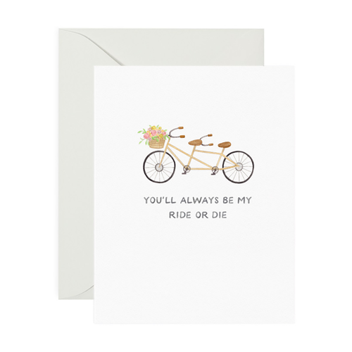 Ride or Die Friendship Greeting Card - Front & Company: Gift Store