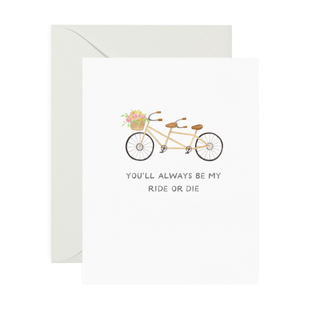 Ride or Die Friendship Greeting Card