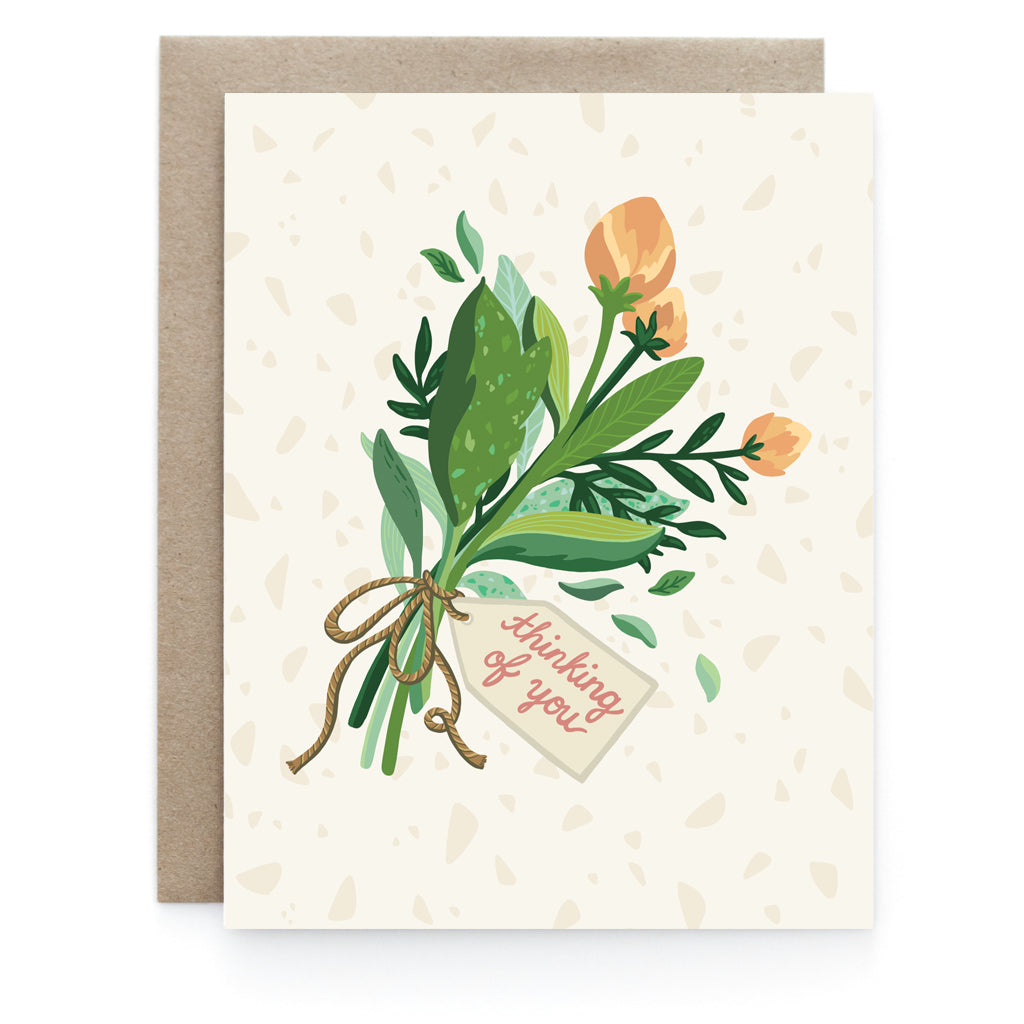 Thinking Of You Florals – Greeting Card