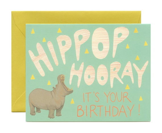 Hippop Hooray Birthday Card