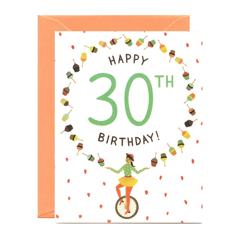 Juggler 30th Birthday Card