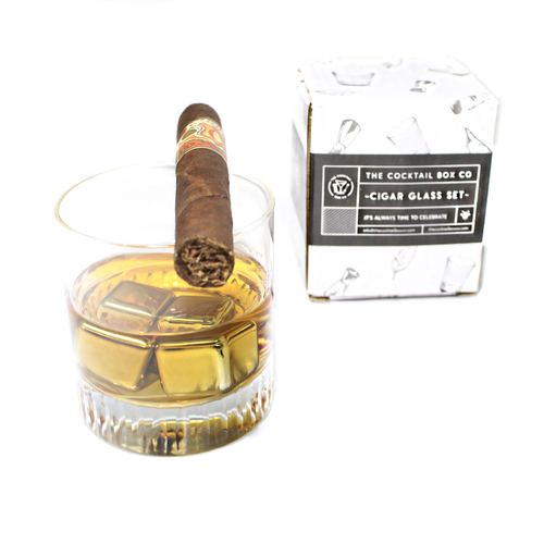 The Cocktail Box Co. Whiskey Cigar Glass Set - Front & Company: Gift Store