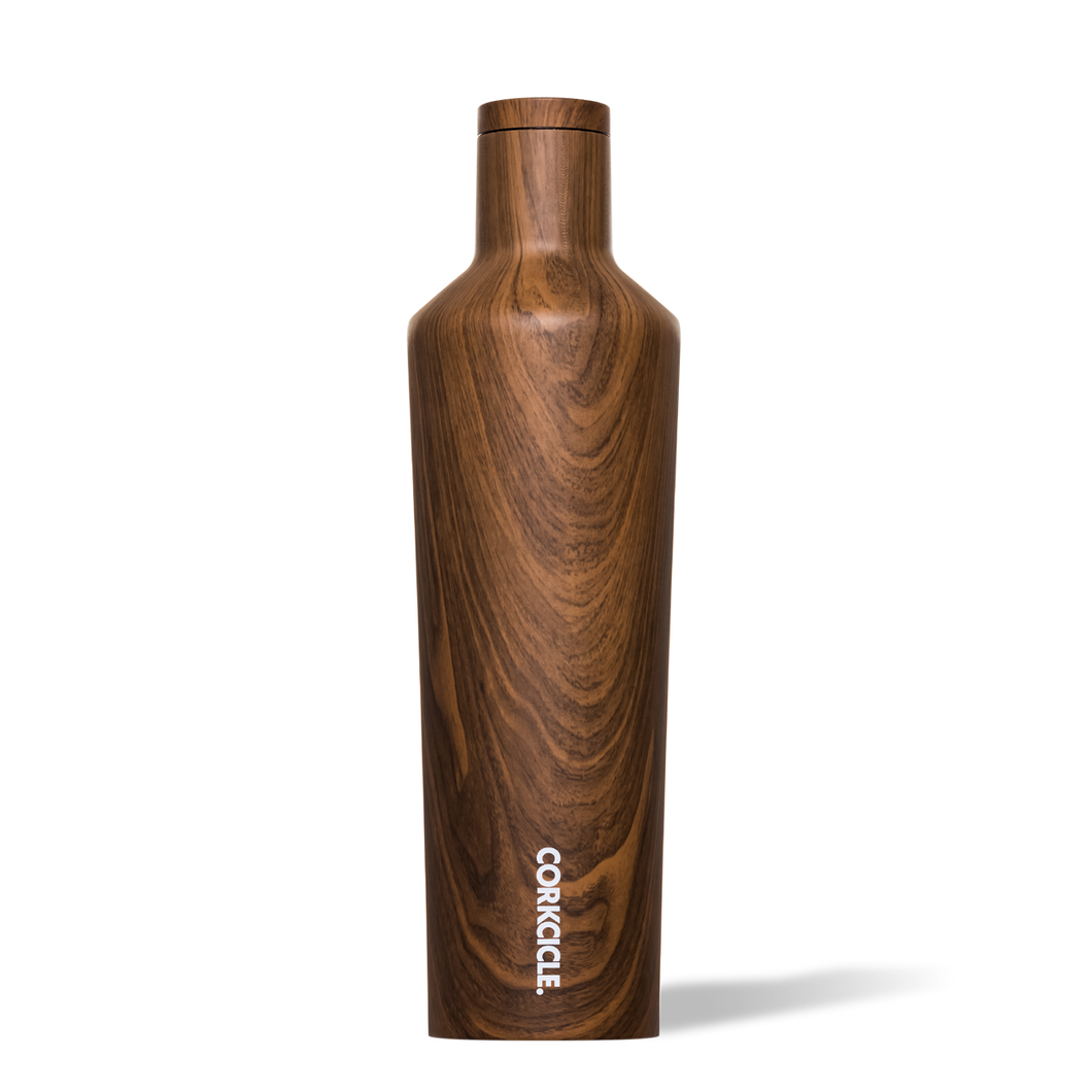 Corkcicle Canteen 25oz - Walnut Wood