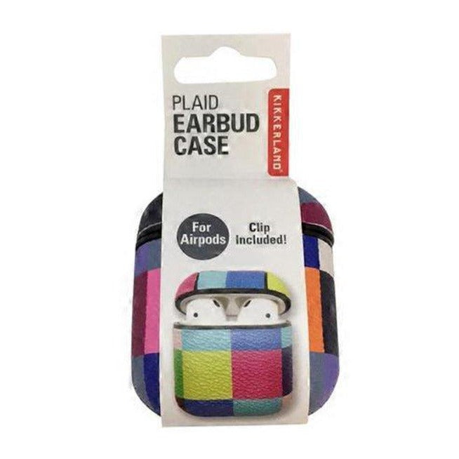 Plaid Earbud Case