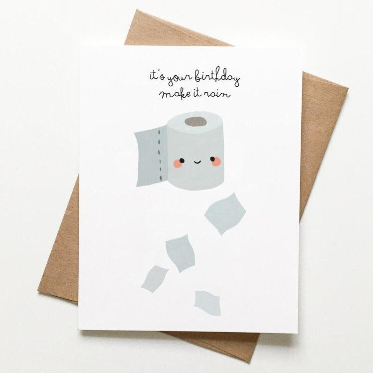 Toilet Paper Birthday Card