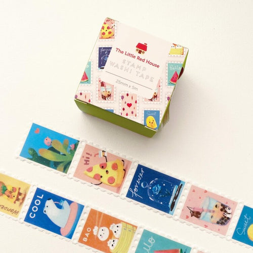 2.5cm Animals With Food Stamp Washi Tape - Front & Company: Gift Store