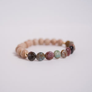 Isla || Ocean Jasper and Rosewood single bracelet