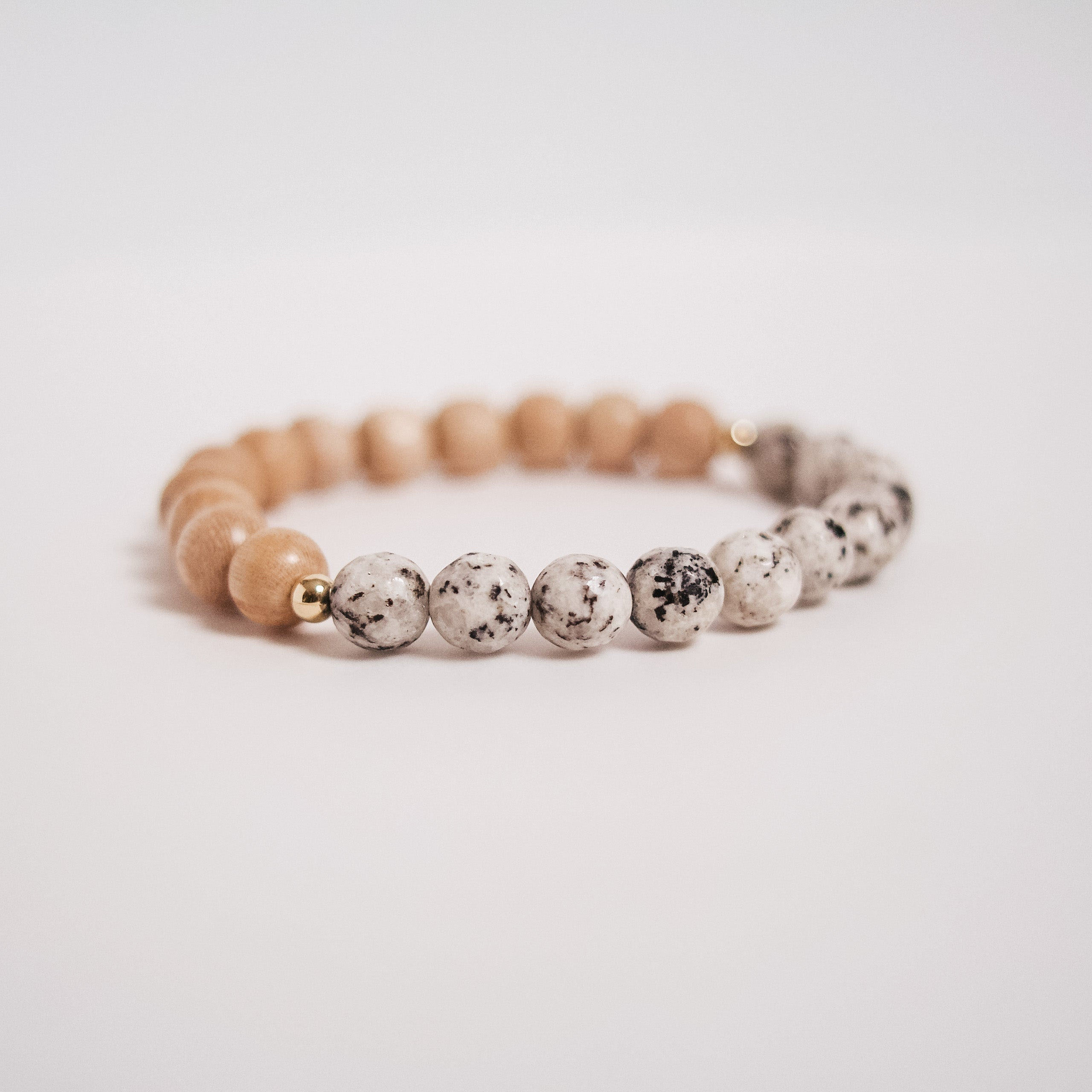 Lauren || Spotted Jasper and Rosewood single bracelet