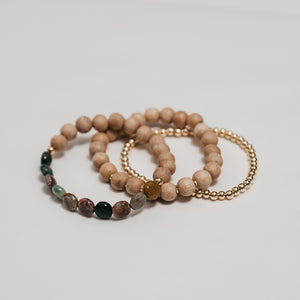 Isla || Ocean Jasper and Rosewood trio