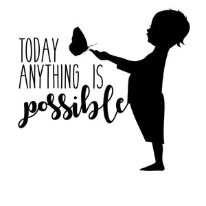 Today Anything is Possible SVG fil