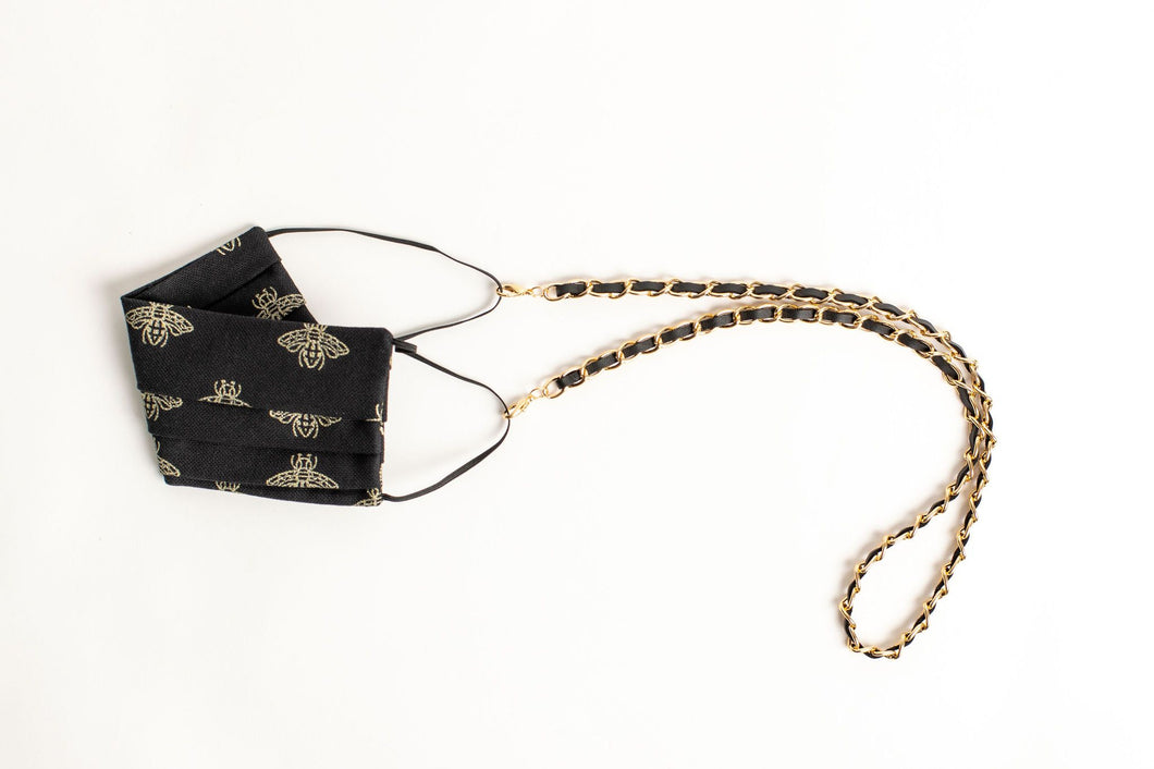 Coco Leather Mask/Glasses Chain