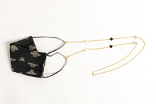 Load image into Gallery viewer, Enamel Clover Motif Mask/Glasses Chain - Gold
