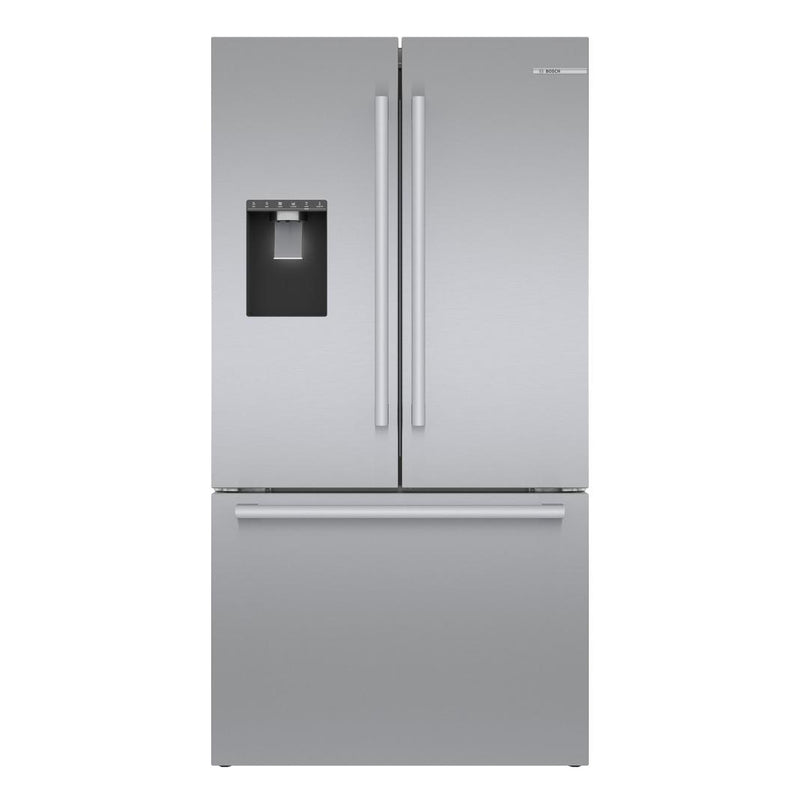 Bosch - 35.625 Inch 20.8 cu. ft French Door Refrigerator in Stainless - B36CD50SNS