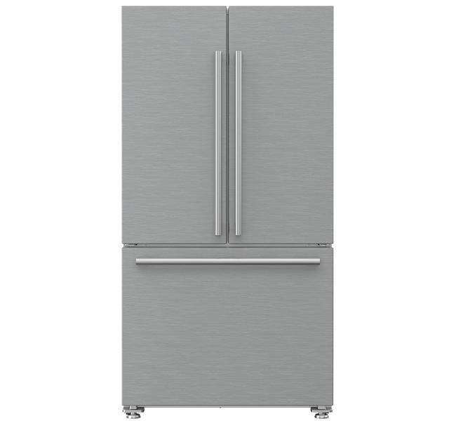 Blomberg - 35.75 Inch 19.86 cu. ft French Door Refrigerator in Stainless - BRFD2230SS