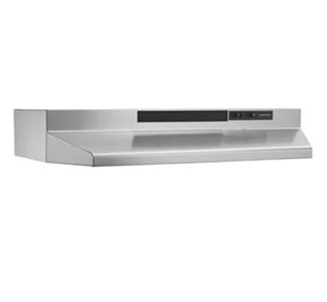 Broan - 30 Inch 160 CFM Under Cabinet Range Vent in Stainless  - BU230SS