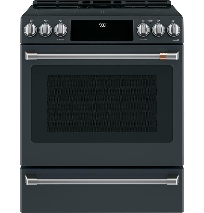 Café - 5.7 cu. ft  Induction Range in Black - CCHS900P3MD1