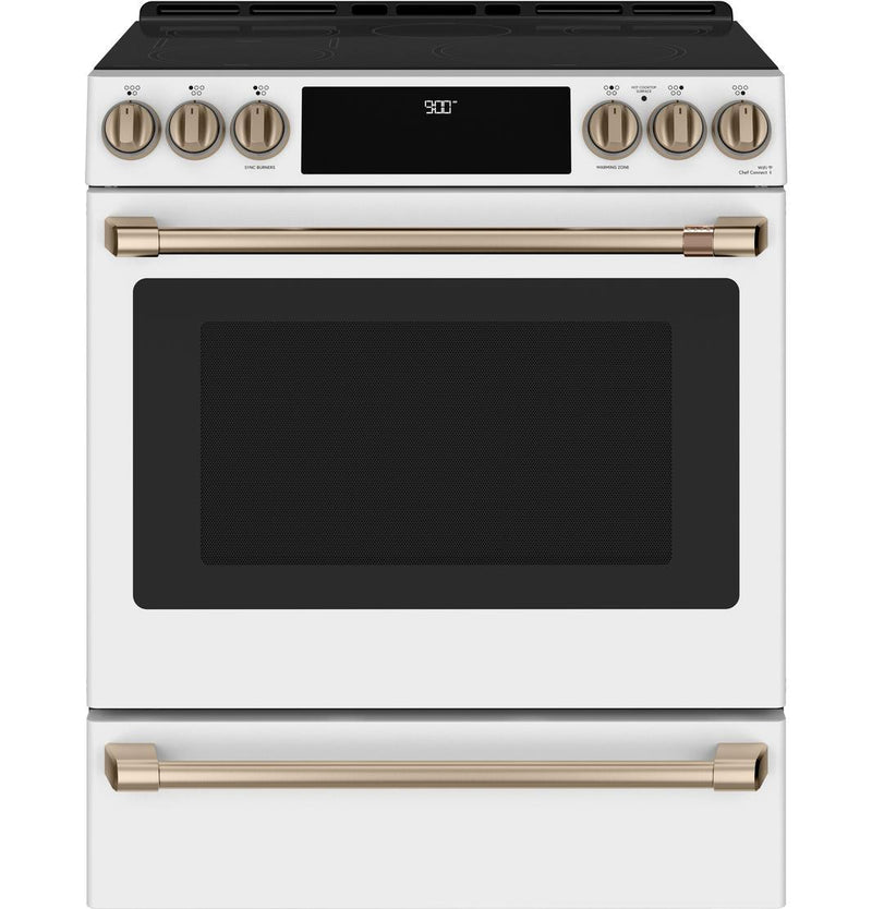 Café - 5.7 cu. ft  Induction Range in White - CCHS900P4MW2