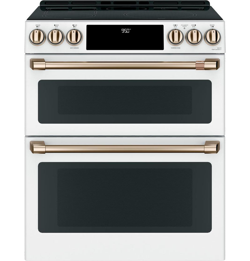 Café - 6.7 cu. ft  Induction Range in White - CCHS950P4MW2