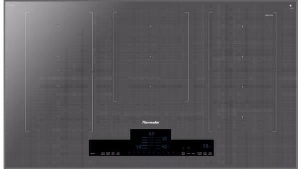 Thermador - 37 inch wide Induction Cooktop in Silver - CIT367XM