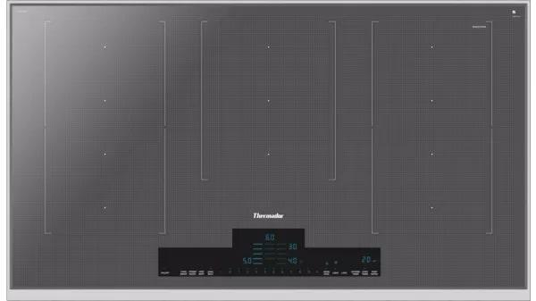 Thermador - 37 inch wide Induction Cooktop in Grey - CIT367XMS