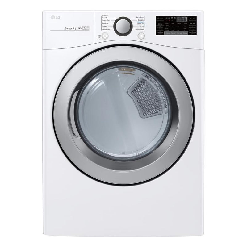 LG - 7.4 cu. Ft  Electric Dryer in White - DLE3500W