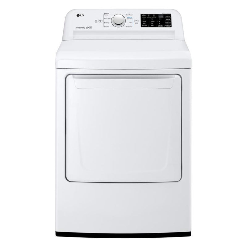 LG - 7.3 cu. Ft  Electric Dryer in White - DLE7100W