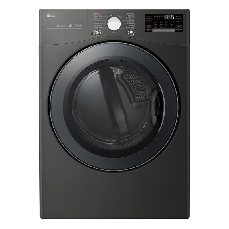 LG - 7.4 cu. Ft  Electric Dryer in Black Stainless - DLEX3900B