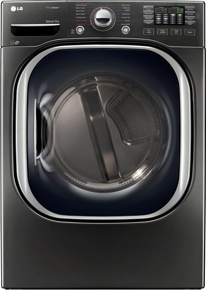 LG - 7.4 cu. Ft  Electric Dryer in Black Stainless - DLEX4370K