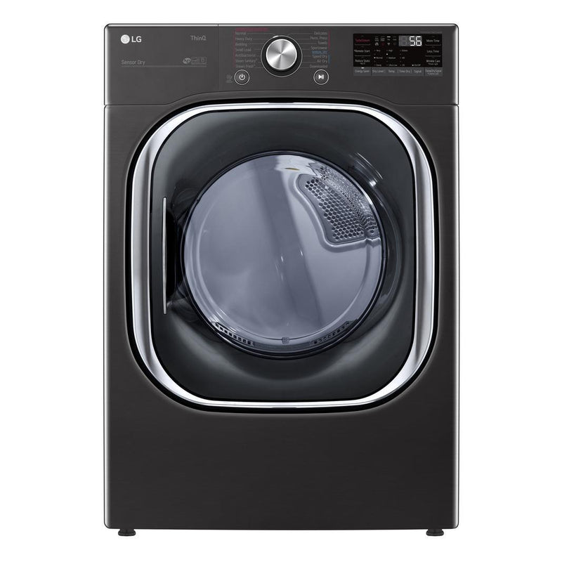 LG - 7.4 cu. Ft  Electric Dryer in Black Stainless - DLEX4500B